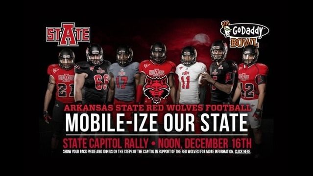 Red Wolves Pep Rally at State Capitol