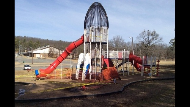 Two Teens Charged in Burns Park Slide Fire