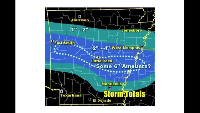Snowfall Expected to Arrive in Arkansas Monday Night