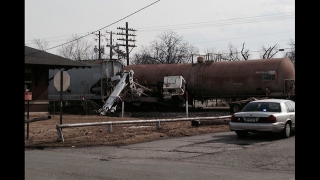 Train Hits Truck Hauling Crane in Beebe
