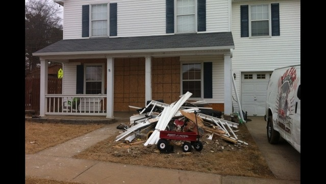 Benton Home Damaged When Car Runs off Road