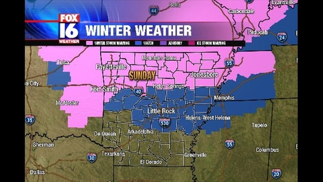 Winter Weather Expected Sunday in Arkansas