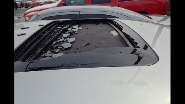 Man Says Falling Ice From Winter Storm Caused Car Damage