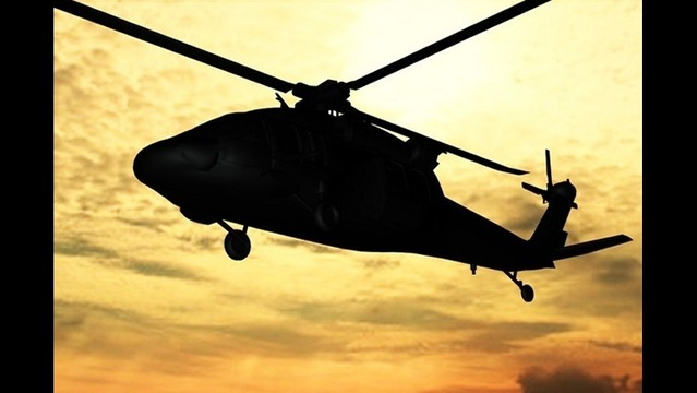Black Hawk Helicopter Part of Pinnacle Mountain Military Exercise Saturday