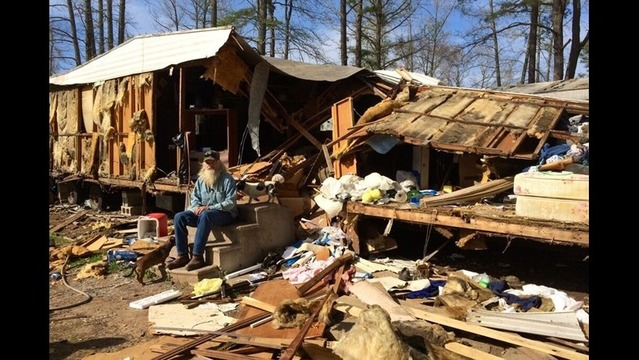 Sunday Night Storms Damage Homes and Leave One Man Homeless