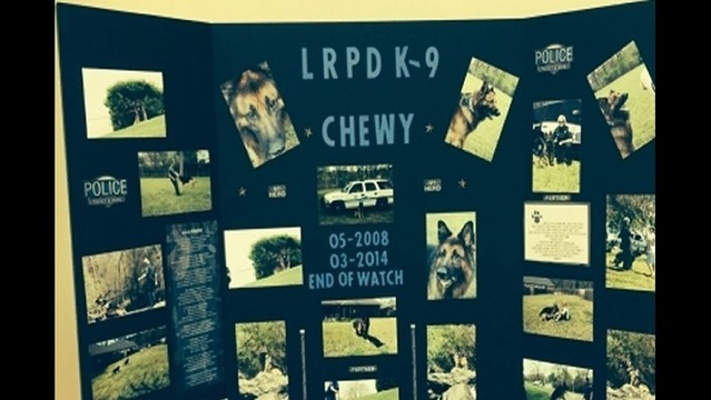 First K-9 Memorial Service for LRPD