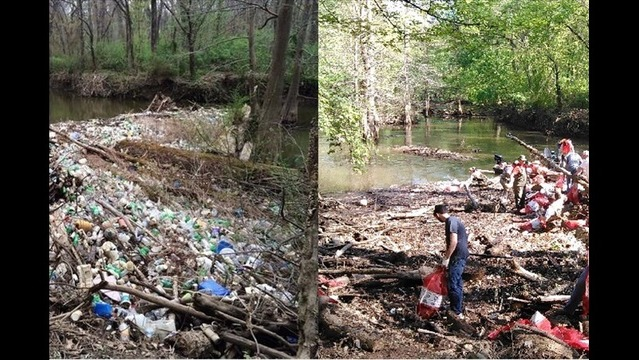 Volunteers Remove Massive Pile Of Trash In Fourche Creek Ahead Of Earth Day
