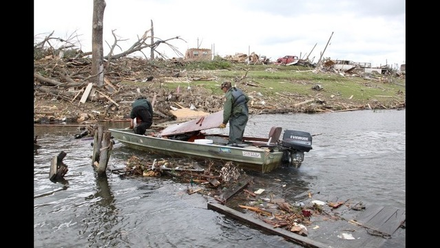 Tornado Debris Removal on Lake Conway