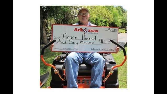 Arkansas Lottery Player Wins Riding Mower