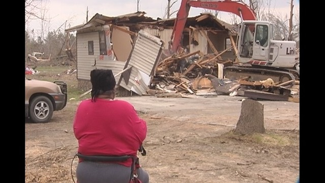 Mayflower Storm Victim Watches Her Home Torn Down