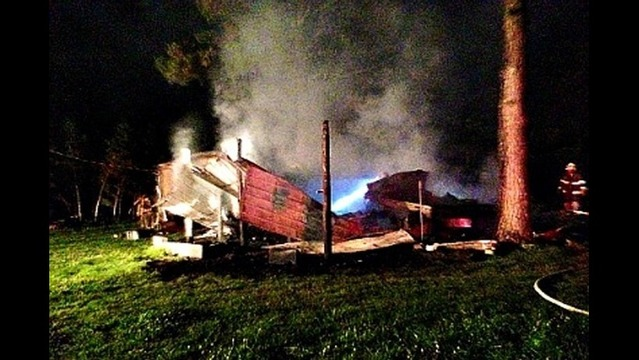 Fire Destroys Mobile Home in Pope County