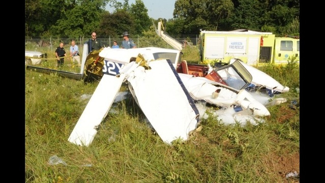 Small Plane Crashes at Harrison Airport, Pilot Hospitalized