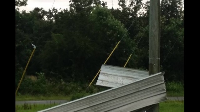 Chicken House in Cleburne County Damaged from Storm