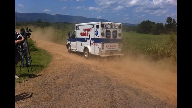 Ambulance, Tow Truck at Missing Man/Baby Search Scene