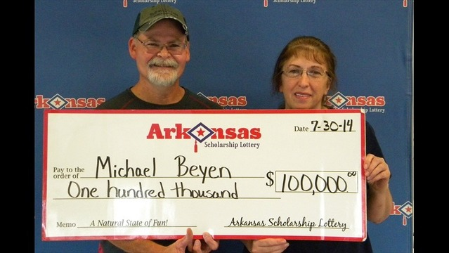 Mountain Home Man Wins $100,000 Lottery Prize