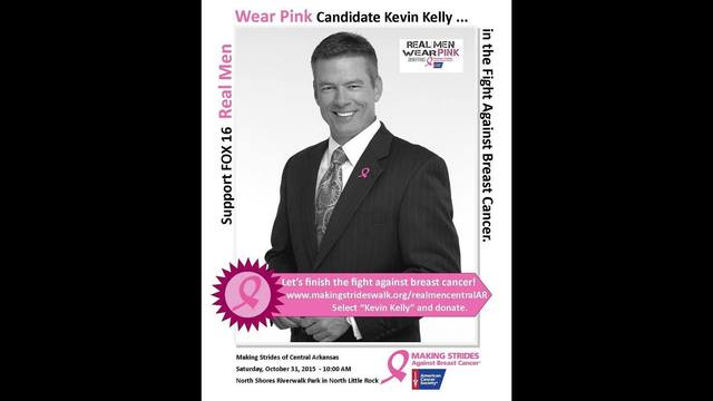 Kevin Kelly's Real Men Wear Pick fundraising page