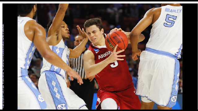 Razorbacks Fall to the Tar Heels, 72-65 in 2nd Round of NCAA Tournament