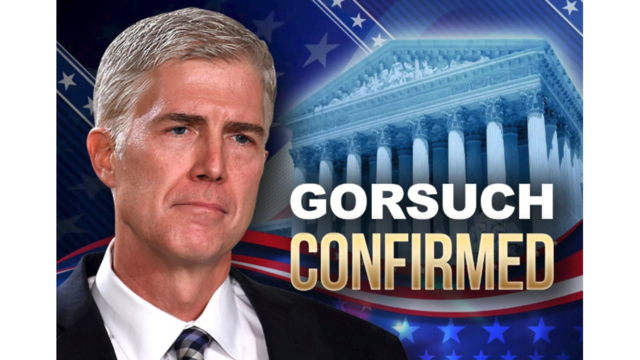 Gorsuch Confirmed to U.S. Supreme Court