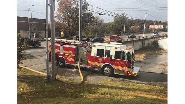 LRFD Fight Fire Near Cantrell Road at Vacant Warehouse