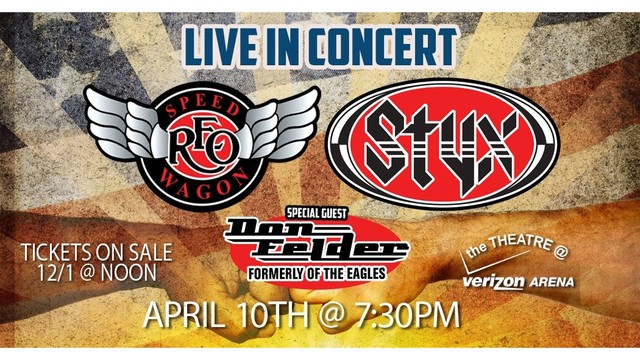 REO Speedwagon, Styx April 2018 Arkansas Concert