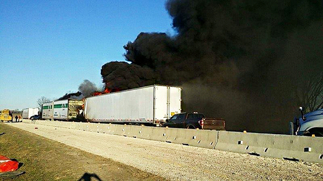 Three Semis Involved in Accident Along I-30