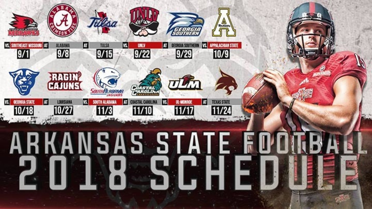 A State Announces Full 2018 Football Schedule