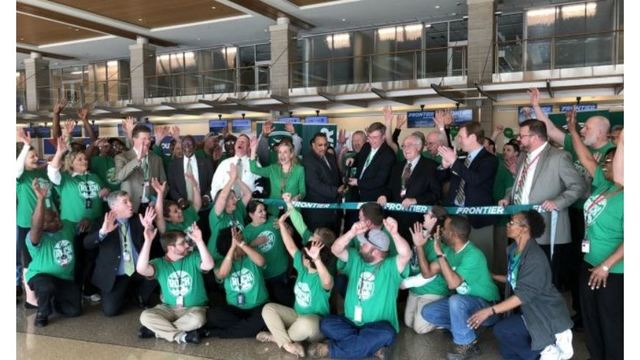 Frontier Airlines Returns to Clinton National Airport