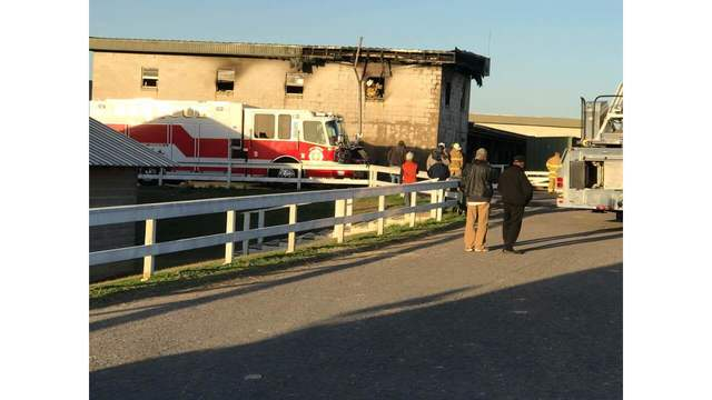 Minor Fire at Oaklawn Park Racetrack