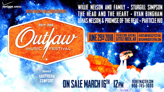 Outlaw Music Festival Tour Coming to Little Rock