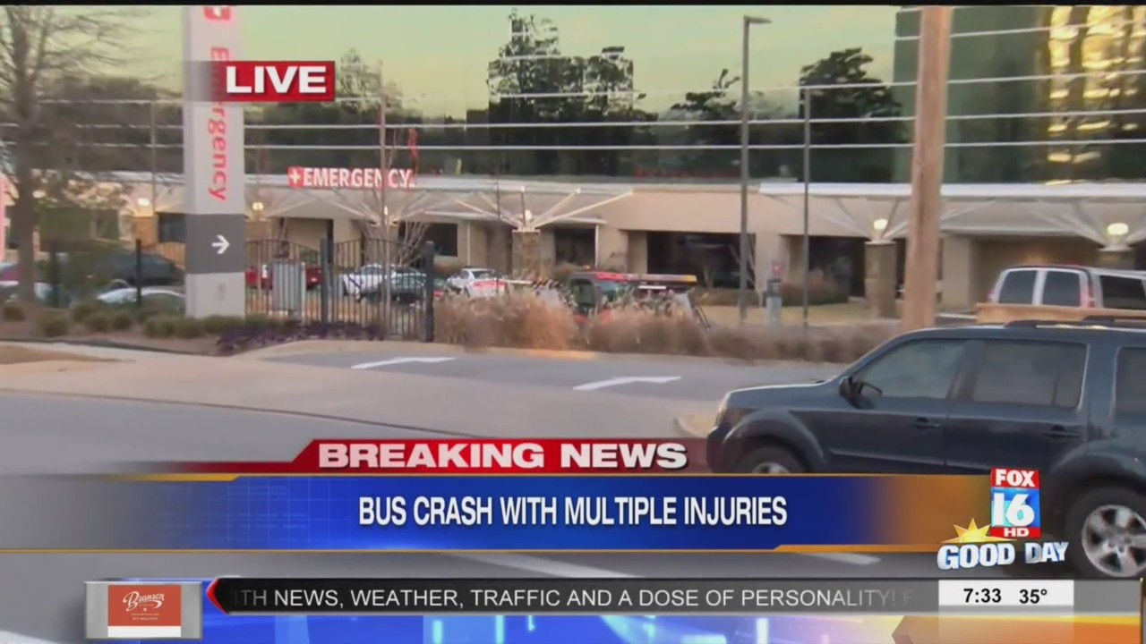 area hospitals working to treat bus crash victims