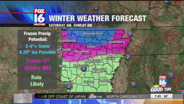 Little Rock Weather Map.Weather Forecast 7 45 Am Friday