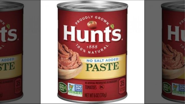 Hunt's tomato paste recalled over possible mold