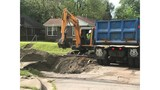Sinkhole Closes road in North Little Rock