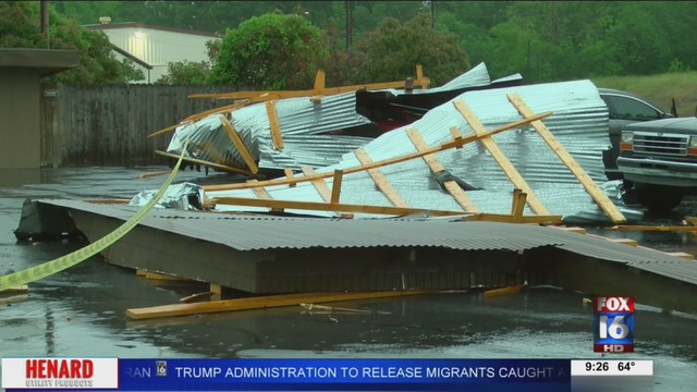 Little Rock hotel damaged in storm Saturday afternoon