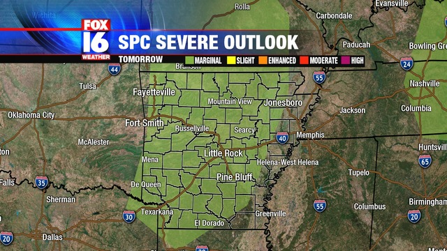 Severe Weather Chance for Wednesday, June 12